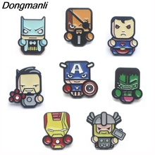 P3856 Dongmanli Fashion Cartoon Cute Metal Enamel Brooches and Pins Collection Lapel Pin Backpack Badge Collar Jewelry