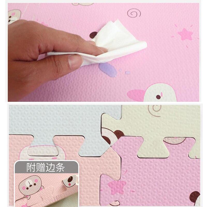 Tapis de Puzzle pour bébé tapis de jeu pour bébé tapis pour enfants en mousse EVA tapis pour enfants tapis de Gym jeu de sol souple rampant tapis en mousse à emboîtement - 6