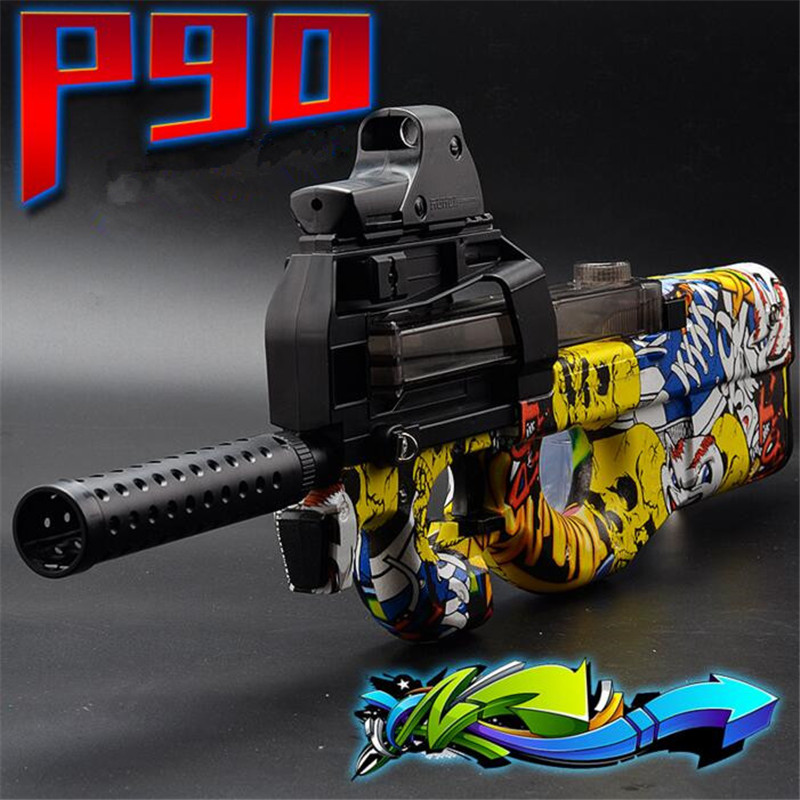 Live CS P90 Electric Toy Gun Paintball Assault Snipe Weapon Soft Water Bullet Pistol with bulletsToys For Boy Weapons toy pisto