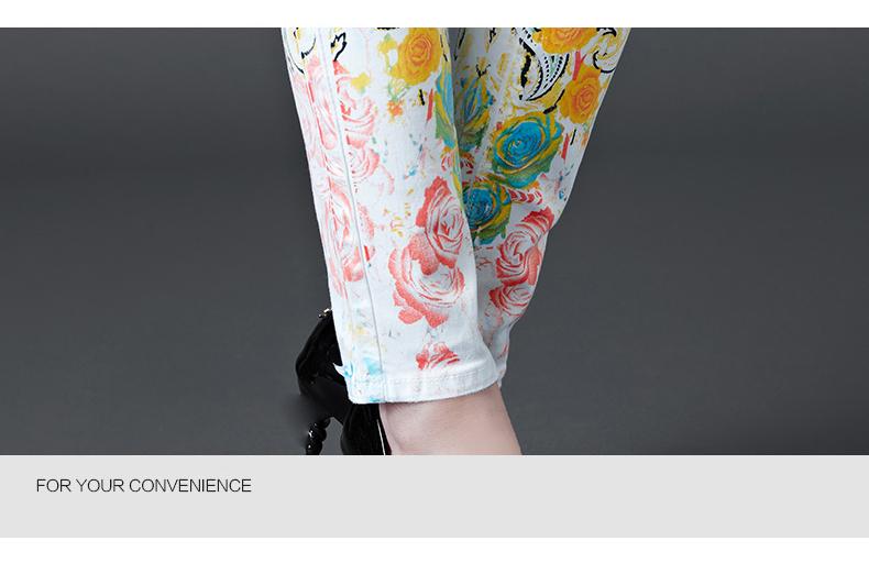Dongdongta Women Girls White Color Jeans 2017 New Design Summer Original Design Full Length Cotton Mid Waist Skinny Pencil Pants 15