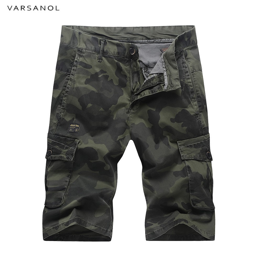 Varsanol Cargo Shorts Men Camouflage Summer Hot Cotton Casual Men Short Pants Brand Clothing Mens Cargo Shorts Newest