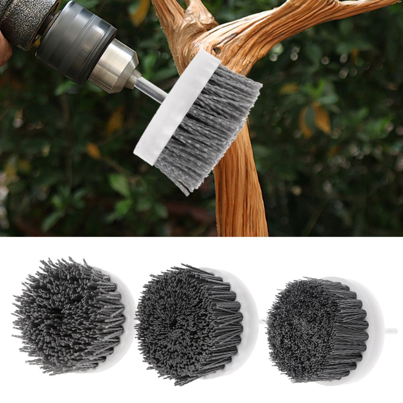 Deburring Abrasive Steel Wire Brush Head Polishing Nylon Wheel Cup Shank 80mm