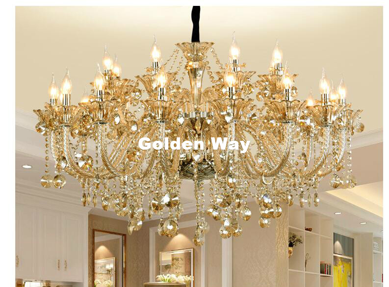 Free Shipping Cognac Color Chandelier Crystal Hanging Lamp Fixtures Hotel Crystal Lighting Lamp Staircase Long Chandelier Lights