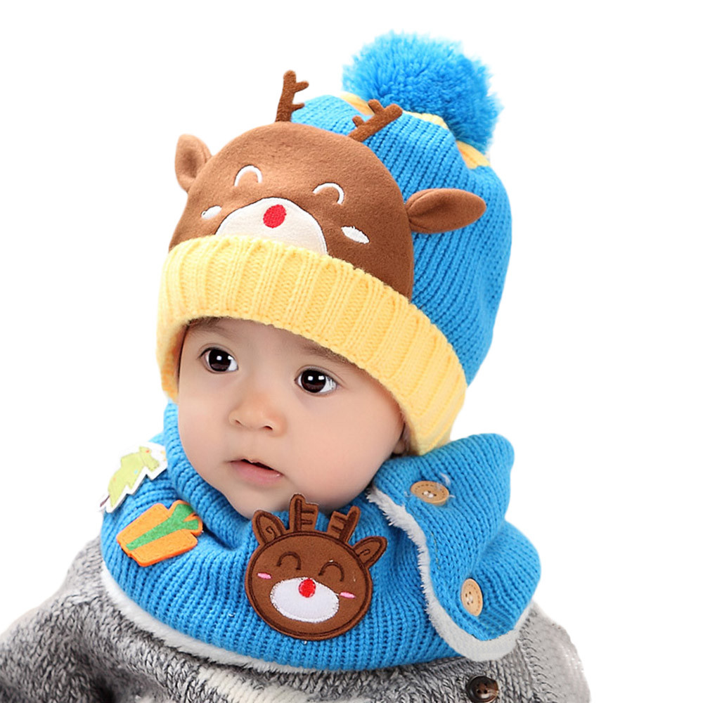Girls Boys Winter Cap Baby Toddler Beanie Kids Cute Cartoon Knitted Childrens Lovely Patchwork Soft Hat Baby Mutsjes @9211