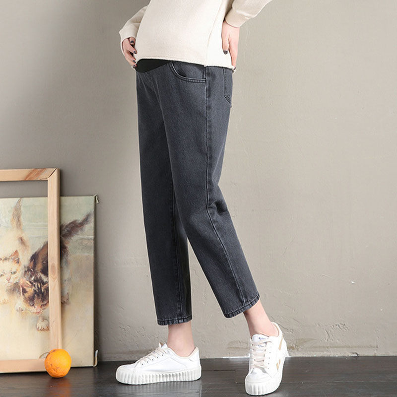 Boyfriend Style Denim Jeans Maternity Pants For Pregnant Women Clothes Loose Casual Straight Jeans Pregnancy Trousers Maternity