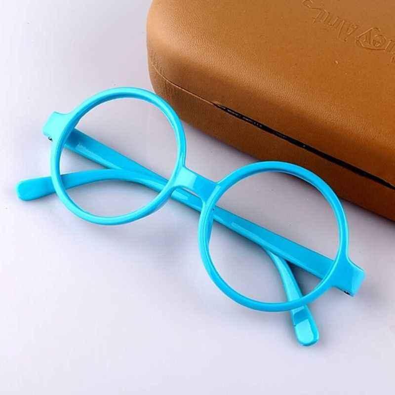 Retro Nerd Gaya Lucu Bayi Permen Warna Bulat Bingkai Kacamata Tanpa Lensa Putri Putri Cosplay Pesta Kostum Kacamata