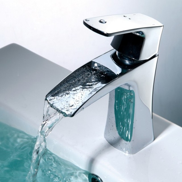 freies verschiffen kupfer waschbecken chrom bad wasserhahn wasserfall mixer wand tap vanity. Black Bedroom Furniture Sets. Home Design Ideas
