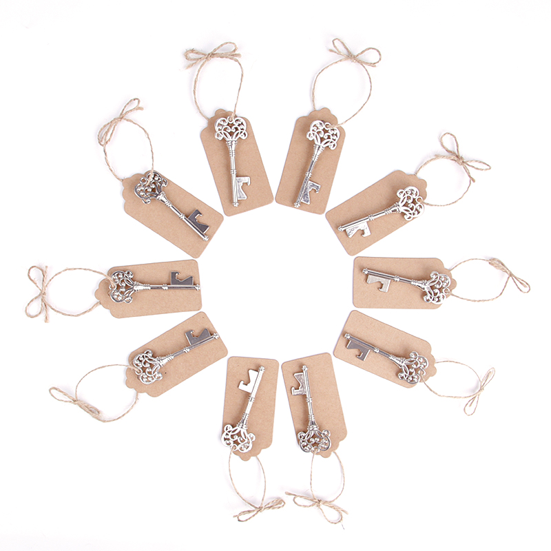 50pcs/lot Gold Silver Key Bottle Opener Keychain Shaped Zinc Alloy Color Ring Beer Unique Creative Gift