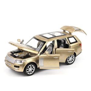 Image 5 - 1:32 Range Rover SUV Simulation Toy Car Model Alloy Pull Back Children Toys Collection Gift Off Road Vehicle Kids 6 open door
