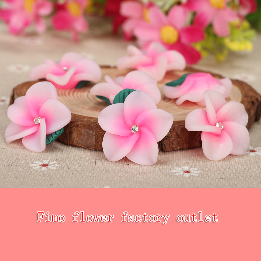 Compare prices on hawaiian flower rings online shoppingbuy low 12pclot 25mm polymer flower clay factory hawaiian foam fimo charm beads diy making bracelet dhlflorist Gallery