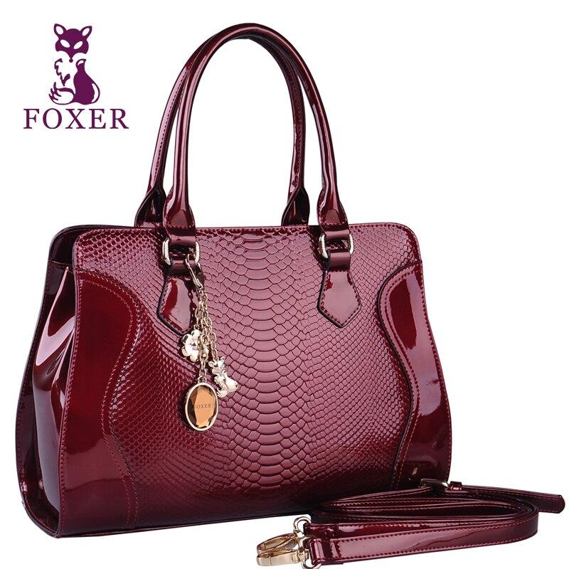 foxer marca mujer de cuero de vaca bolso de hombro de lujo bolsos de las mujeres