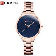 Curren 9015 Women Watches Luxury Rose Gold Full Steel Dress