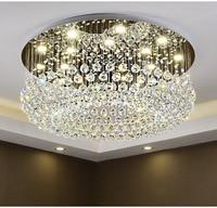 Circular Luz de Teto de Cristal Para Sala de Jantar Home Hotel Lâmpada de Luz Criativa Retro Ferro Lâmpada E14 lâmpada LED|Lustres| |  -