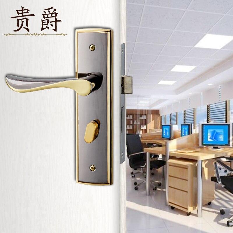 Jazz Interior Door Lock Your Bedroom Security Locks Aluminum Handle Wood Bathroom In Desk Table Clocks From Home Garden On