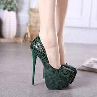 Yeni stil kadın seksi yüksek topuklu Serpantin stiletto sandal bayanlar ünlü pompaları Platform ayakkabılar Siyah Bordo Bej Yeşil