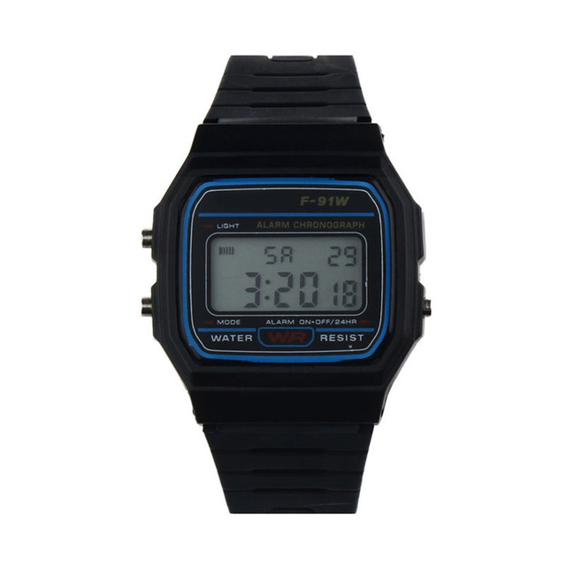 2018 New Silicone Rubber Strap Retro Vintage Digital Watch Military Sports Boys