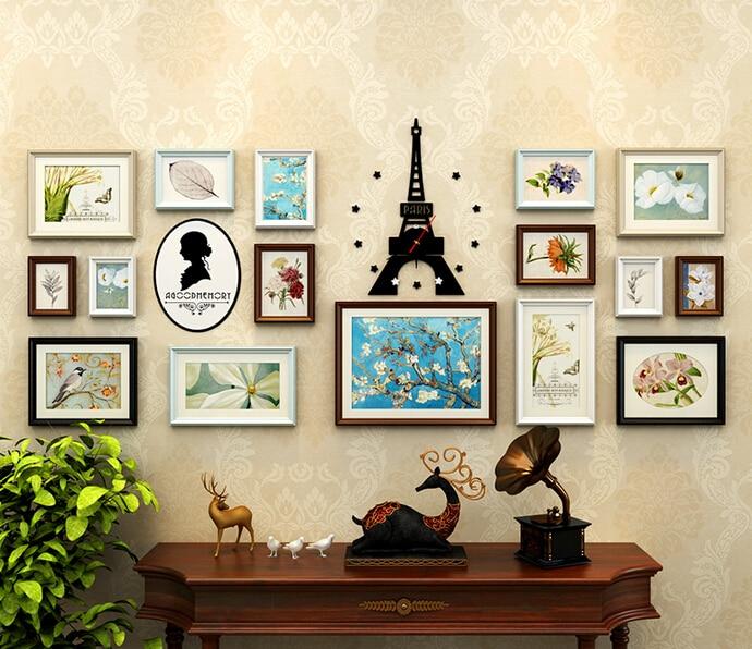 ୧ʕ ʔ୨Estilo europeo de madera maciza foto de la pared. El cuadro ...