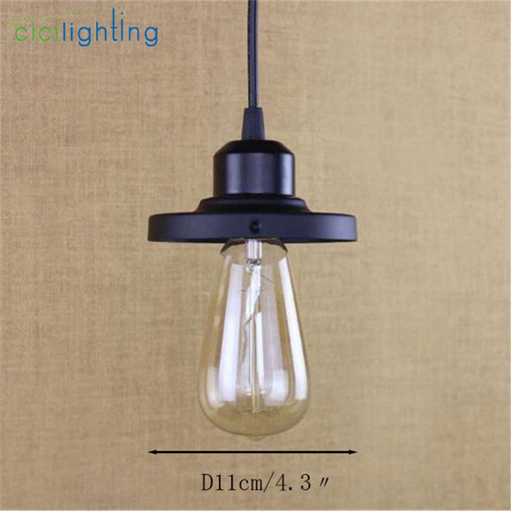 Un-Light Indoor Mini luce Del Pendente nero E27 lampada a sospensione mini luminaria per wearhouse Ripostiglio Casa Colonica