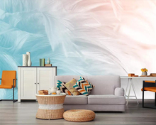 beibehang American wallpaper mural simple fashion hand-painted feather texture art TV background wall 3d murals