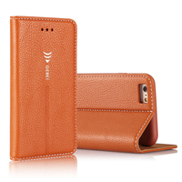 Arrival Luxury Original Brand GEBEI Leather Flip Unique Magnet Design Stand Case Cover For IPhone 5
