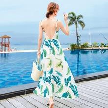 New Boho  Beach Party Sundress Straps Long  Summer Women Hol