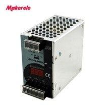 Ac-dc 300 Вт 12 В 24 в 48 в светодиодный din-рейка импульсный источник питания с цифровым шоу регулятор напряжения выход для светодиодный светильник