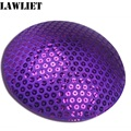 B044 Purple Sequin Circle Round Millinery Hat Fascinator and Headpieces Base Craft