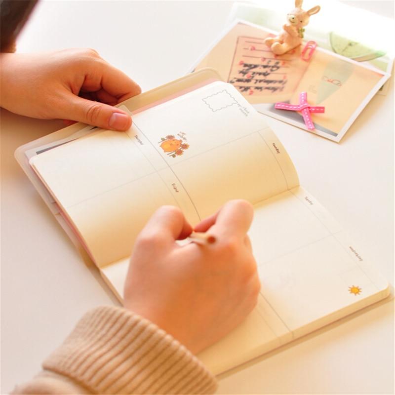 2015-2016 Cute Kawaii Notebook Мультяшный Molang Rabbit - Блокноттар мен жазу кітапшалары - фото 6