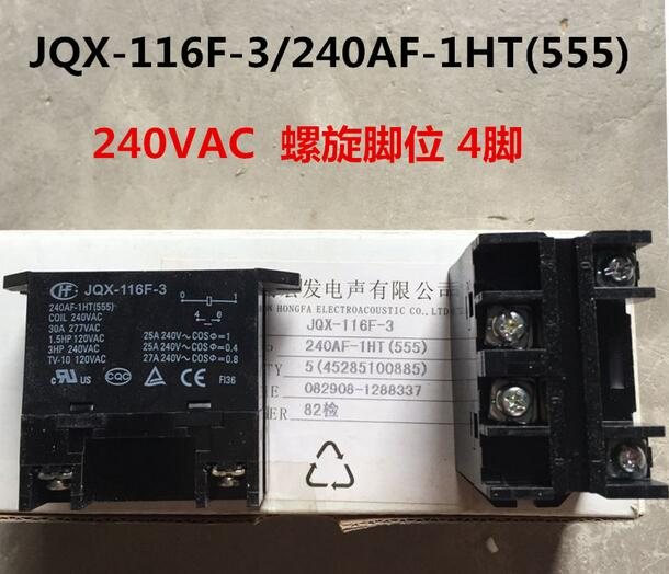цена на HOT NEW relay JQX-116F-3 240AF-1HT 240VAC JQX-116F-3-240AF-1HT 240VAC AC240V
