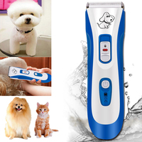 IPX7 Waterproof Professional Electric Pet Hair Clipper Cat Dog Hair Trimmer Grooming Animals Clipper Pets Haircut Shaver Machine