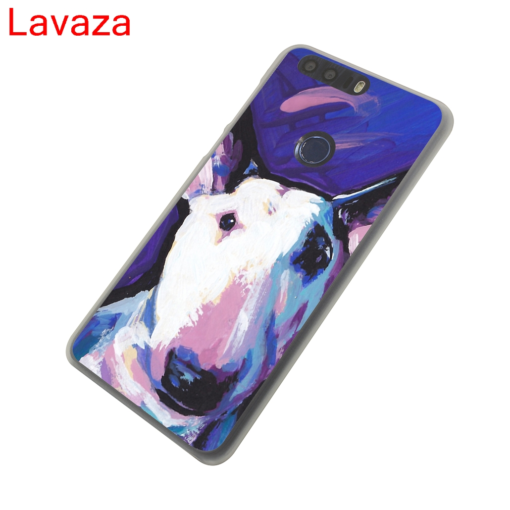 Lavaza Tattooed Bullterrier Cute dog Biaoqing Hard Transparent Case Cover for Huawei Honor 8