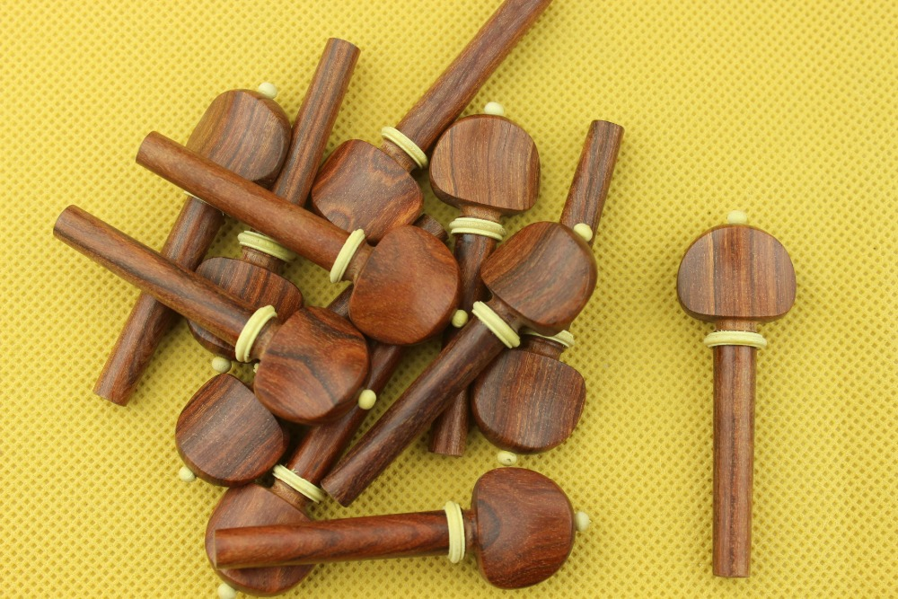 40pcs 10 set high quality rosewood Violin pegs 4 4 full size violin accessories