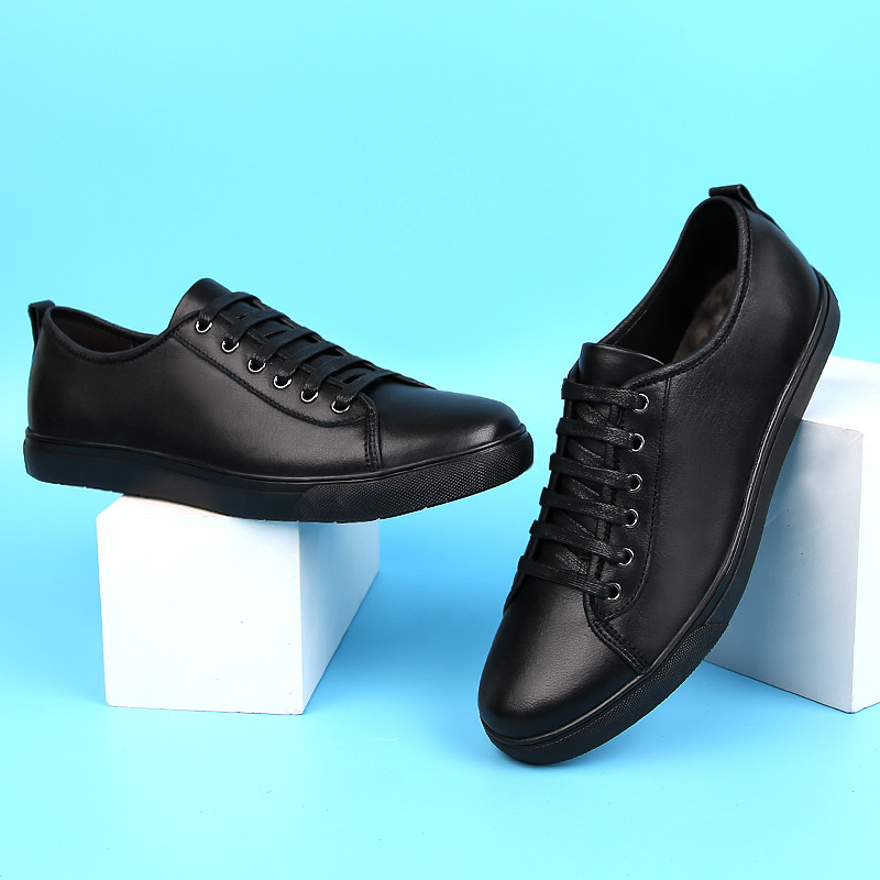 Men Genuine Leather Shoes Lace-up Young Men Casual Outdoor Summer Hole Breathable Men Trend Sneakers Mens Loafers Shoes L5