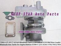 TD04 12T 49177 03160 1G565 17013 Turbo Turbocharger For Mitsubishi Pajero L200 Kubota Bobcat S250 Skid