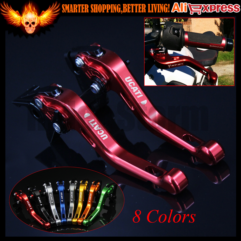 ФОТО 8 Colors New CNC Aluminum Red Motorcycle Short Brake Clutch Levers for Ducati ST4S 2003