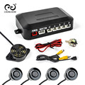 Carro Auto Sensor de Estacionamento Com 4 Sensores buzzer Parktronic Reverso Do Carro De Backup Estacionamento Monitor do Sistema Detector De Radar Frete Grátis