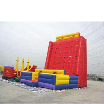Wysokiej jakości dostosować parku rozrywki sportowe gry dla dzieci dmuchane ścianka wspinaczkowa dla rozrywki tanie i dobre opinie XZ-CW-040 Dziecko Giant Inflatable Climbing Wall Inflatable Interactive Game For Kids 0 5mmPVC L8m*W8m*H8m 110-220v Large Outdoor Inflatable Recreation