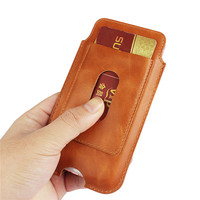 Universal Many Models Belt Clip Holster Genuine Leather Phone Cases For IPhone 6 6s 7 Plus