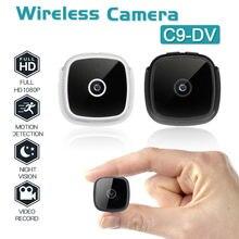 C9 DV HD 1080P Mini Câmera de Visão Noturna Sem Fio Da Câmera de Segurança de Vídeo TF Cartão USB 400mAh Da Bateria DV DVR IP Cam Pequena