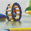 inflatable hot wheel or wind-fire rings playing on the water 2.2*1.8*2.8 M water game in summer
