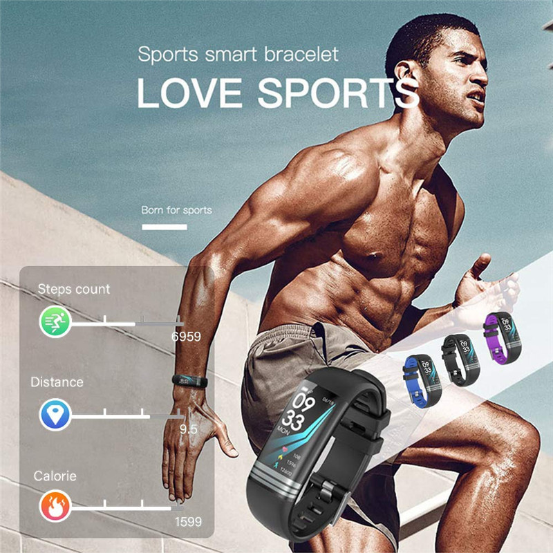 Image 5 - Color Screen Smart Band Health Bracelet Blood Pressure Measurement Heart Rate Monitor Fitness Tracker Waterproof Men's Watch+box-in Smart Wristbands from Consumer Electronics