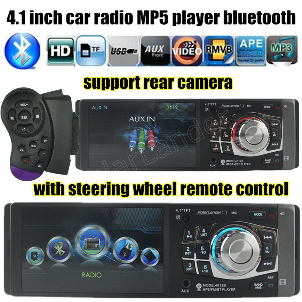 new 4 1 inch HD TFT screen car radio player 12V car audio mp4 mp5 stereo