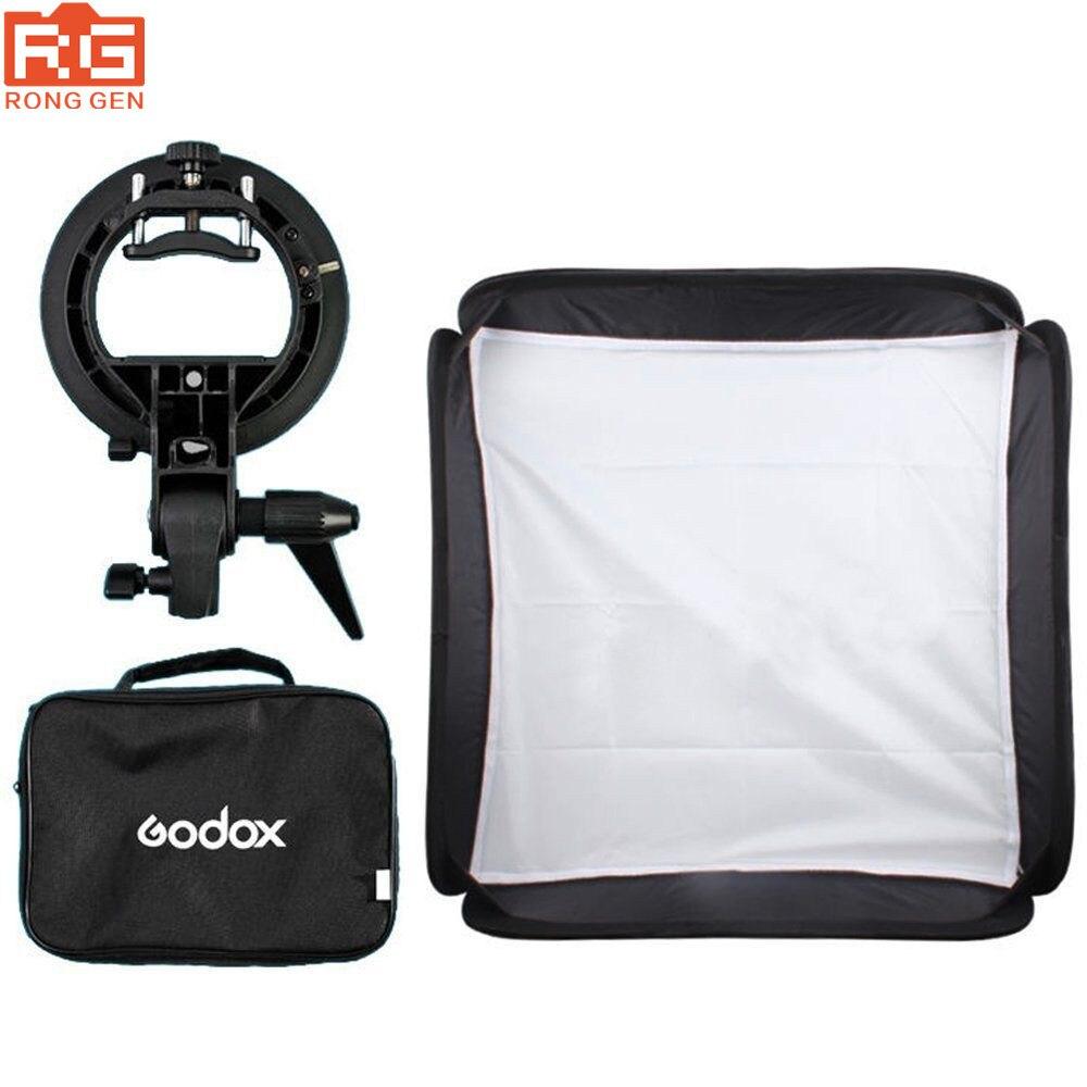 Godox 60x60 cm Flash Softbox Kit mit S Typ Halterung Bowen Mount Halter Für Kamera Foto Studio-in Lichtwanne aus Verbraucherelektronik bei  Gruppe 1