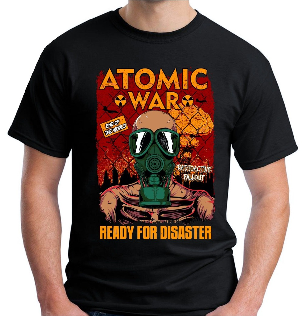 2018 Crossfit T Shirts Velocitee Mens Atomic War Gamer T Shirt Nuclear Apocalypse Gaming Game V22 New Arrivals Casual Clothing