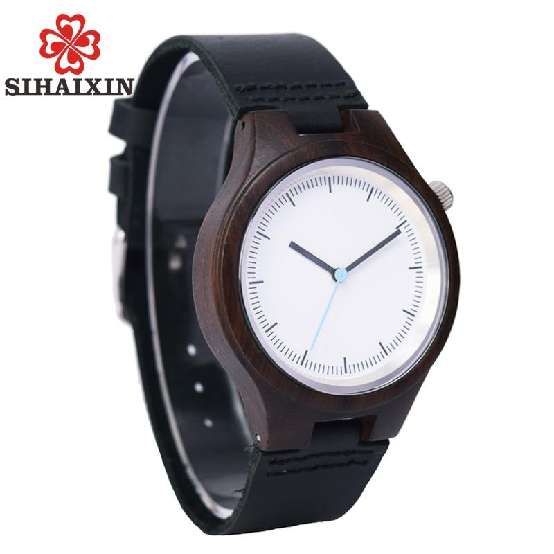 Wooden Watches For Men With Authentic Top Brand Luxury Strap Leather Japan Quartz Movement Bracelet Wristwatch Gift Box SIHAIXIN 2017 new quartz watches woman s top brand for gift leather bracelet luxury women s watches