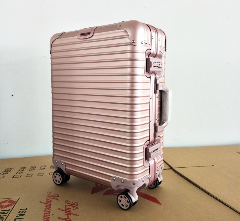 20 24 inches 100% Aluminum Travel Luggage Trolley Suitcase Suitcase Rolling Case On Wheels Women Rolling Luggage