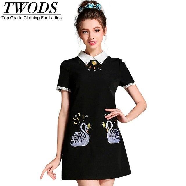 Aliexpress Buy Twods L 5xl Collared Women Short Dress
