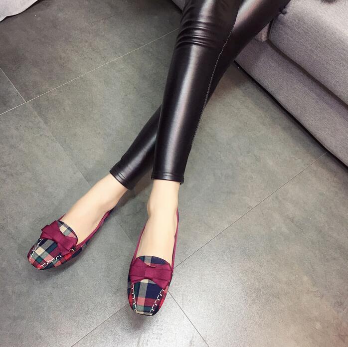 Plus-Size-35-42-Fashion-Women-s-Shoes-2018-Spring-New-Women-Flats-Plaid-Cotton-Fabric (1)