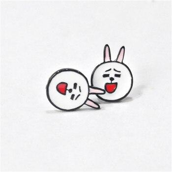 Сережки гвоздики с кроликом Сплав 1