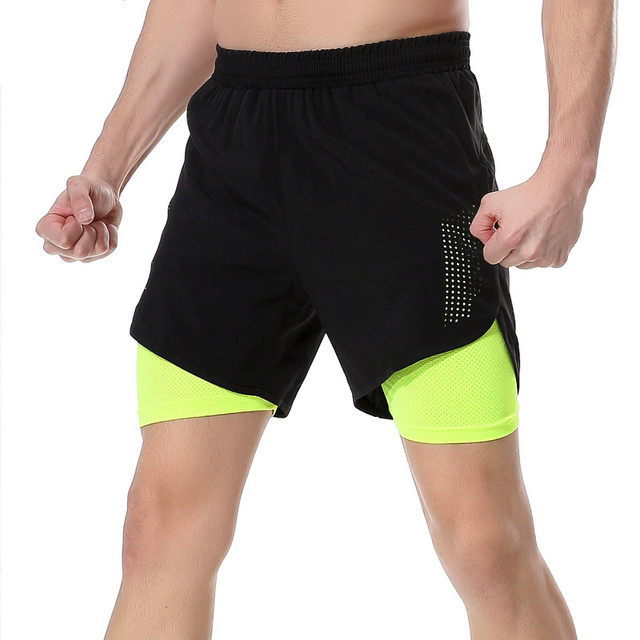7c0dcd705ffc Workout running shorts 2 in 1 sport running gym shorts mannen jogging  fitness compressie training panty